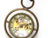 Steampunk Harry Potter TIME TURNER Necklace - Mechanical Pocket Watch - GlazedBlackCherry