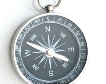 NAVIGATOR COMPASS - Necklace Pendant -  Never Need To Ask Directions Again - By GlazedBlackCherry