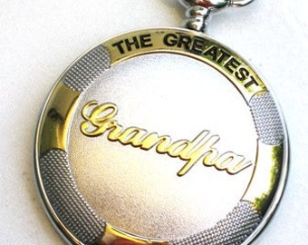 Steampunk - Fathers Day THE GREATEST GRANDPA - Pocket Watch - Large - Necklace - SIlver - Gold - Neo Victorian - By GlazedBlackCherry