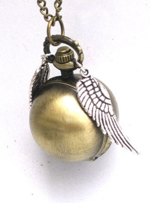 MAGICAL Golden Snitch - POCKET WATCH - Locket Pendant Necklace