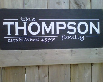 Wooden Sign- Custom Family Name