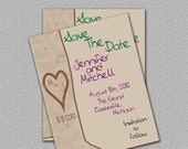 Tree Save the Date, Printable Tree Invitation, Heart and Initials, Invite