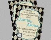 Printable Alice in Wonderland  Invitation or Save the Date, Alice in Wonderland Save the Date, Invite