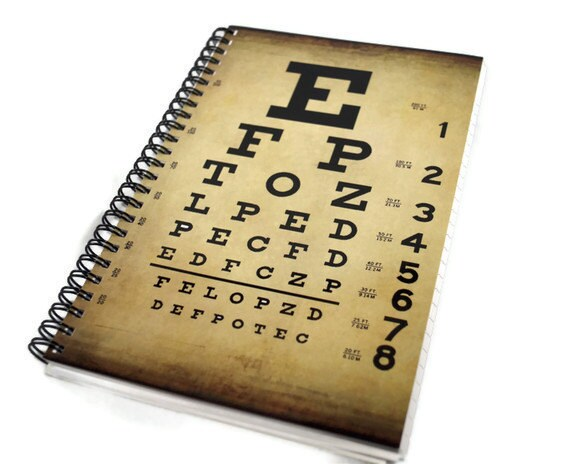 Spiral Bound Notebook, Eye Exam Chart, Note Paper, Journal