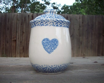 CLEARANCE 30% off Vintage Sponge Ware Ceramic Canister
