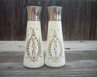 Vintage Religious Salt and Pepper Shakers