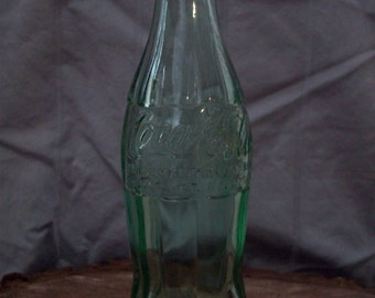 CLEARANCE Vintage Green Coke Bottle