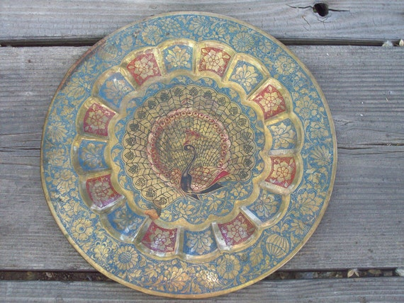 Vintage Peacock Plate