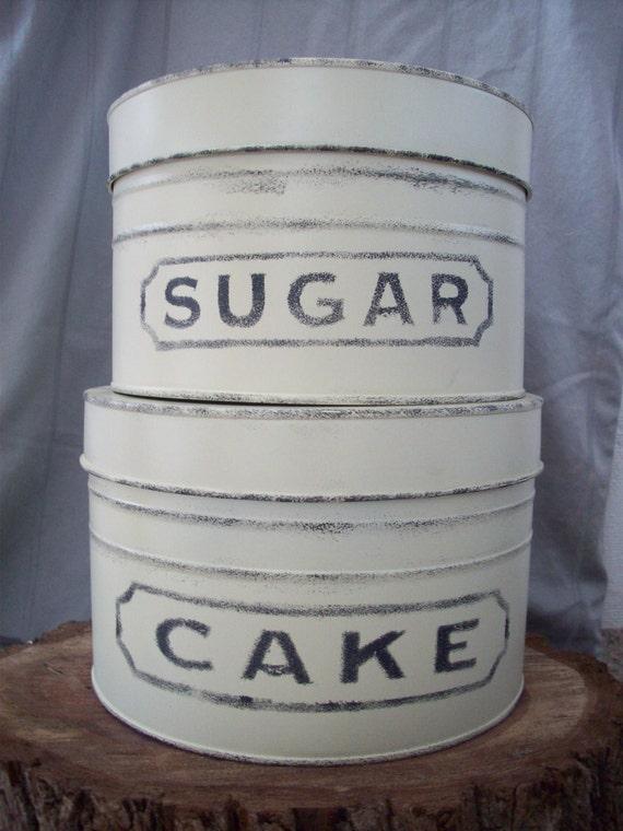 Vintage Sugar and Cake Tins