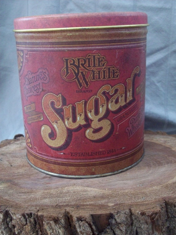 Vintage Ballonoff Sugar Tin