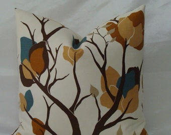 """BOTH SIDES - Lulu DK Bloomsbury Print in Lapis - 18""""x18"""", 20""""x20"""" or 22""""x22"""" Decorative Designer Pillow Covers"""