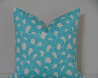"SALE - Trina Turk 18"" x 18"" Arches Print - in POOL Decorative Designer Pillow Cover"