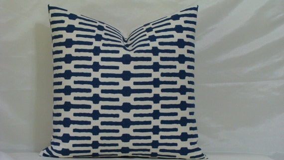 NEW Decorative Designer Pillow Cover - 20 x 20 Annie Selke Links BLUE
