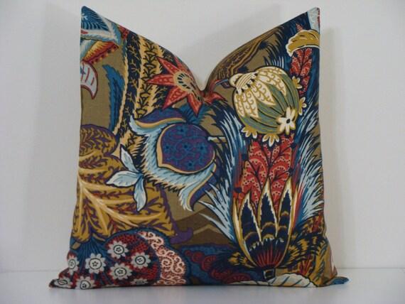 "Schumacher Zanzibar- Cerulean Blue- 18"", 20"" or 22"" Decorative Designer Pillow Cover"