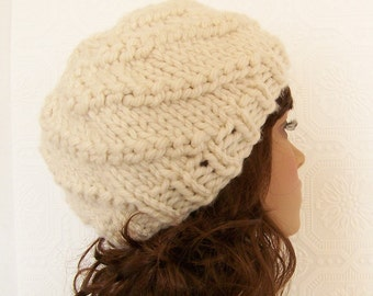 Instant download knitting hat pattern - adult spiral hat pdf knitting pattern - Winter Fashion Winter Accessories by Sandy Coastal Designs
