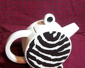 Vintage Ceramic ZEBRA TEA POT
