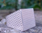 Textured Silver Natural Geometric Ring
