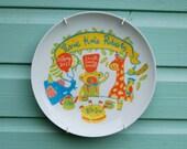 Custom Baby Birth Plate - Jungle Tea Party