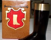 1966 rare vintage AVON LEATHER cologne BOOT collectable
