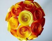 Handmade Paper Flower Bouquet - Bridal Bouquet - Yellow and Gold