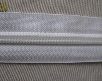 Zipper Tape White Size 8 Coil 5 yds.
