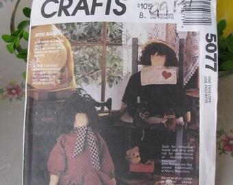 McCall's Crafts Pattern 5077 Attic Babies Dolls, Uncut
