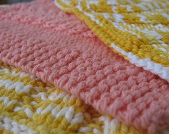 Hand Crochet Dish Rags Vintage Lot of 3 Never Used