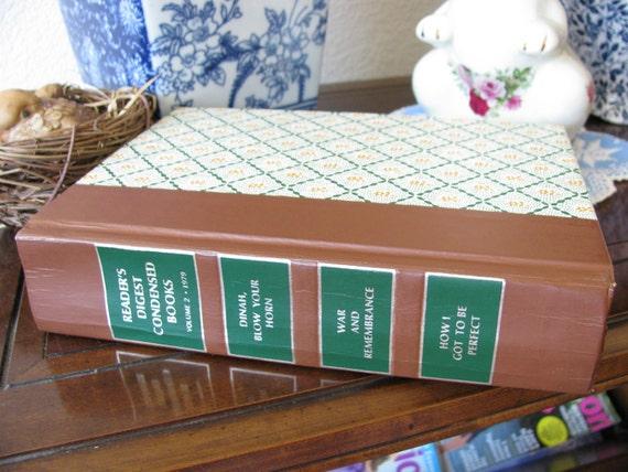 Reserved for STILLUNEEK Vintage Reader's Digest Condensed Book Vol. 2 Dated 1979 Cover and illustration pages
