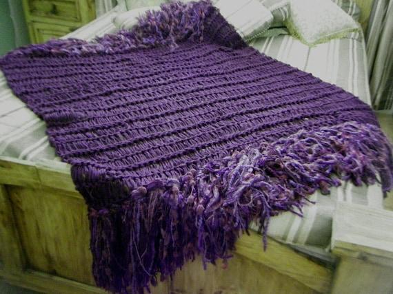 Deep Purple Blanket Purple Throw Blanket Dark Purple Home Decor Violet Eggplant Plum Amethyst Grape Purple Afghan