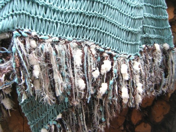 Mint Green Throw Blanket With Chocolate Brown And By
