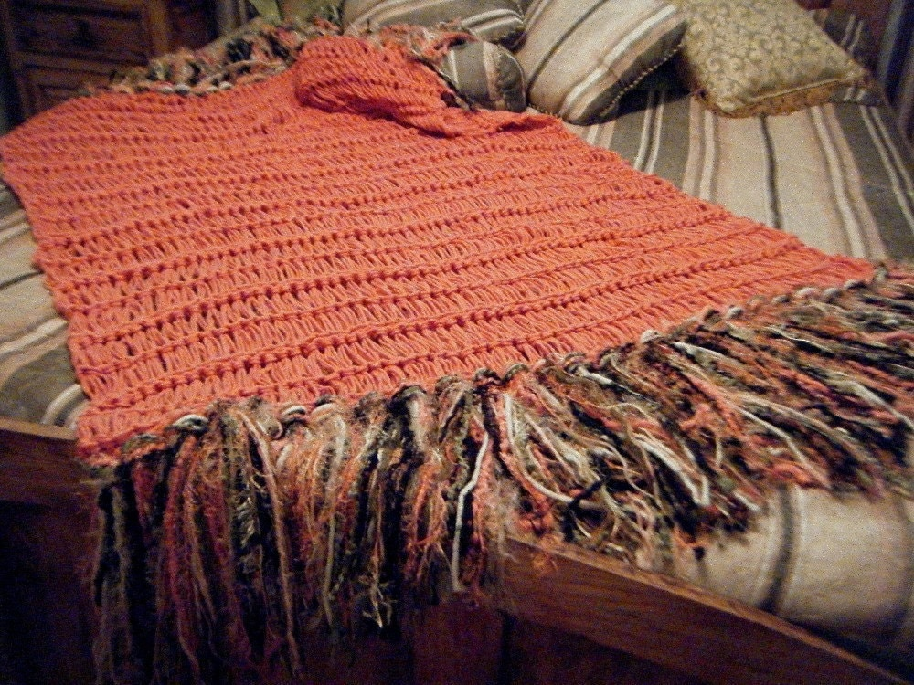 Coral Home Decor Soft Knit Coral Throw Blanket Coral Decor