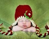 Miss priss Baby  photo prop hat Newborn  0-3 months winter wear christmas  valentines day