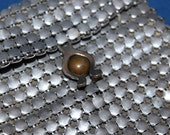 Vintage Small Metal Mesh  Chain Mail Purse