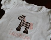 Cute Horse Applique Shirt