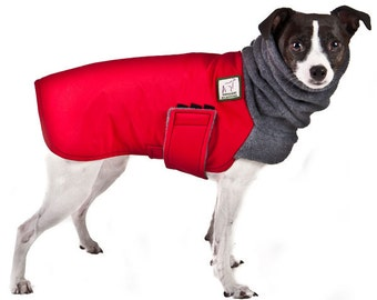 RAT TERRIER Winter Coat, Waterproof Dog Coat, Fleece Dog Snood, Winter Clothes, Pet Accessories, Clothing for Dogs, Fleece Neck Warmer,