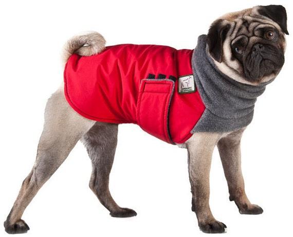 PUG Winter Dog Coat Dog Coat Winter Coat Dog by
