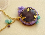 purple  necklace FREE Shipping