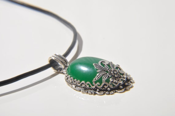 green agate necklace,agate pendant,valentine days