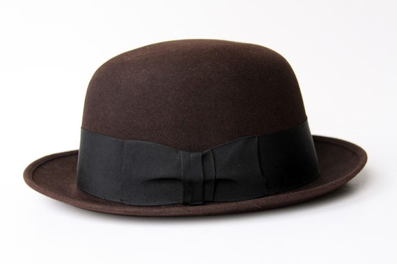 Butch Brown Stetson Derby Bowler Hat and Box