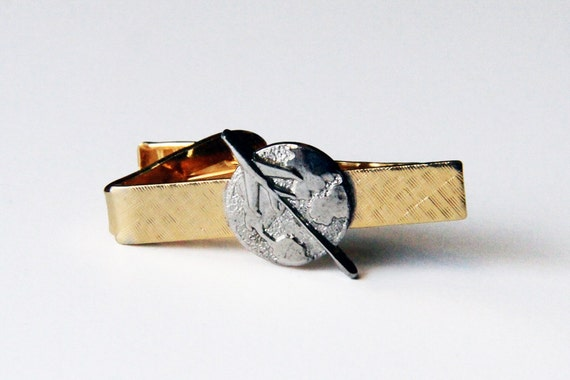 World Traveler Two-tone Tie or Money Clip