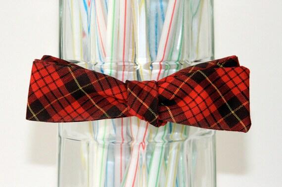 Scotch and Plaid Self Tie Bow Tie