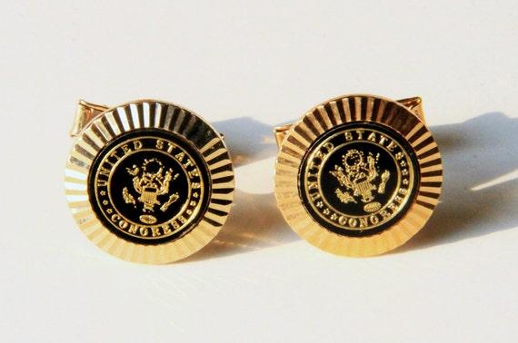 Official Unofficial Congressman Seal Cuff Links