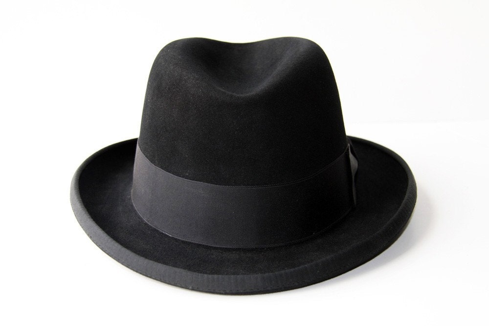 The Godfather Black Dobbs Fedora Hat By Dapperdean On Etsy
