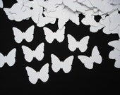 100 Wedding White Classic Butterfly Punch Confetti Die Cut Embellishments - No276