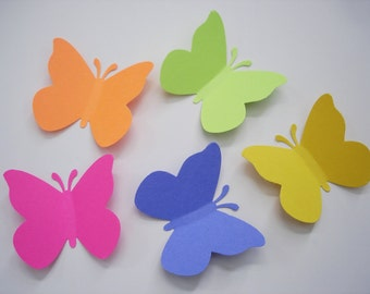 50 Bright Butterfly punch die cut cutout paper embellishments - No375