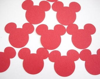 50 Red Mickey Mouse Confetti, Birthday Party Confetti, Birthday Party Decorations - No523