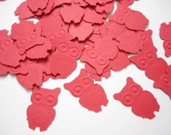 100 Red Owl punch, die cut, confetti, cutout, scrapbooking, tag making, card making, embellishments - No775