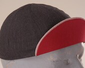 Black and Red, Medium, 4 panel, Wool Cycling Cap