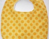 yellow dots bib
