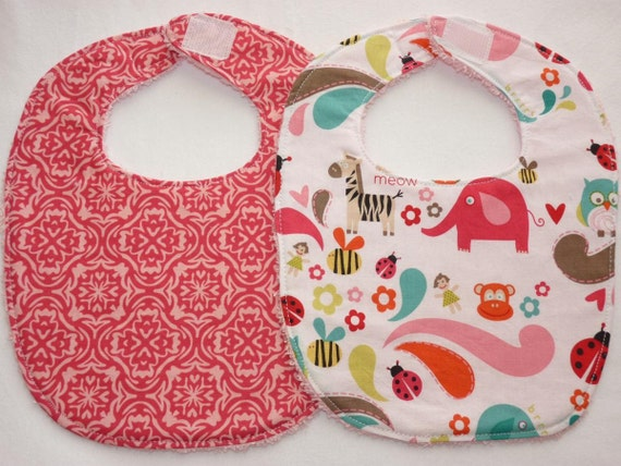 lovely pink bibs - save on shipping